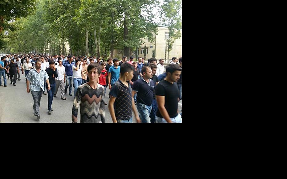 Protestors took to the street after Bahruz Hajiyev died in police custody. (Photo: Islam Shihkali)