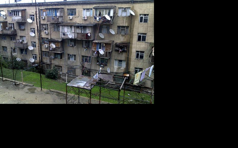 A student hostel occupied by refugees in the centre of Baku. (Photo: Ayten Farhadova)