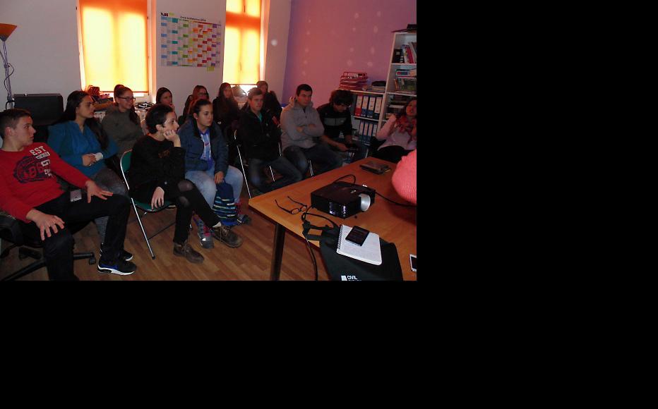 Young people at the film screening at Technical School in Prijedor, Republika Srpska. (Photo: Maja Bjelajac)