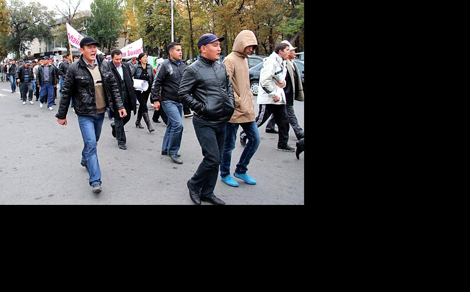 Ata-Jurt can still field loyalists, but no longer seems to have mass appeal. (Photo: Svetlana Zelenskaya, courtesy of kloop.kg)
