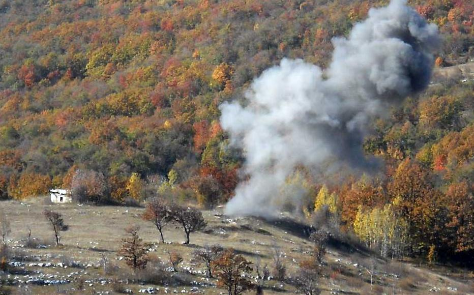 Controlled explosion of explosive devices found in south-western Bosnia.