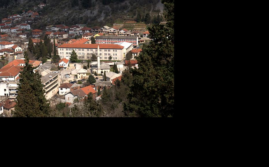 View of Stolac with the high school in the background. (Photo: IWPR)