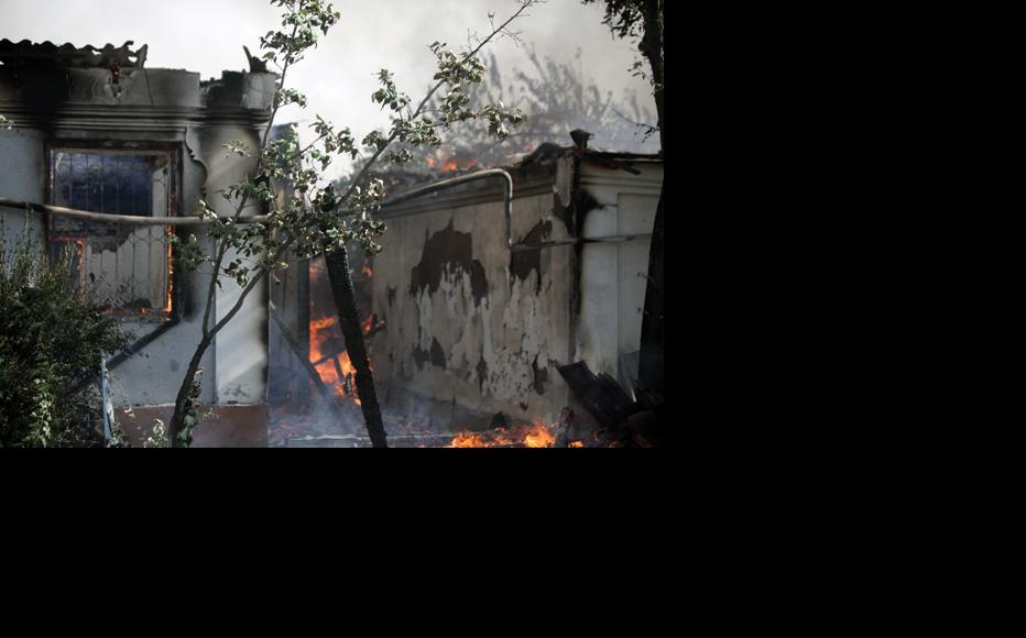 Homes were torched selectively, according their owners' ethnicity. (Photo: Inga Sikorskaya)