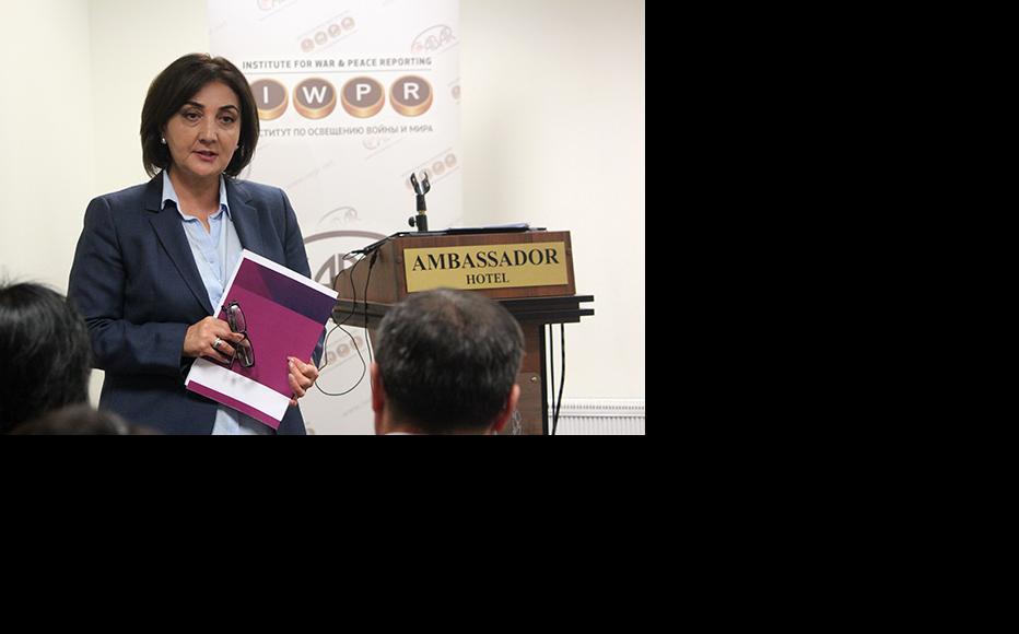 Lola Olimova, IWPR Tajikistan Editor and Programme Manager. (Photo: IWPR)