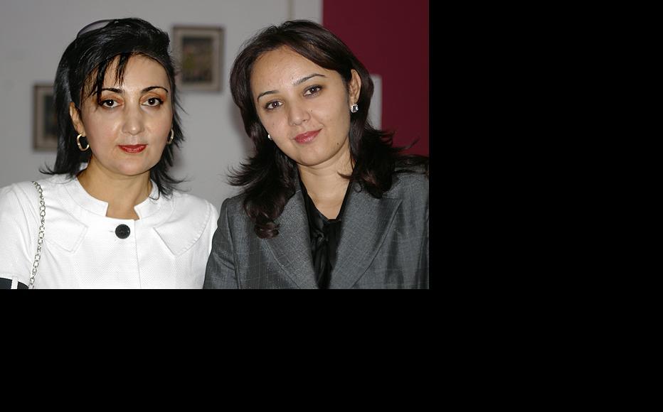 IWPR's team in Tajikistan – editor Lola Olimova and Parvina Khamidova (who has now left to edit the Asia Plus newspaper). (Photo: IWPR)