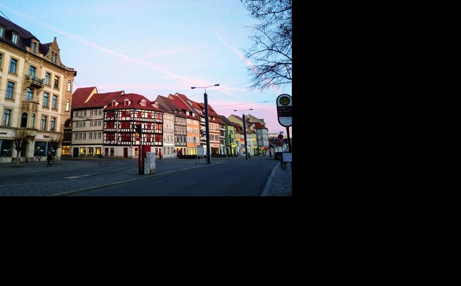 Deserted street in the city of Erfurt. (Photo: T. Svanidze)