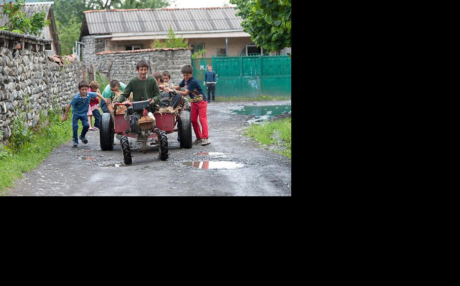 Children in Pankisi. (Photo: Onnik Krikorian)