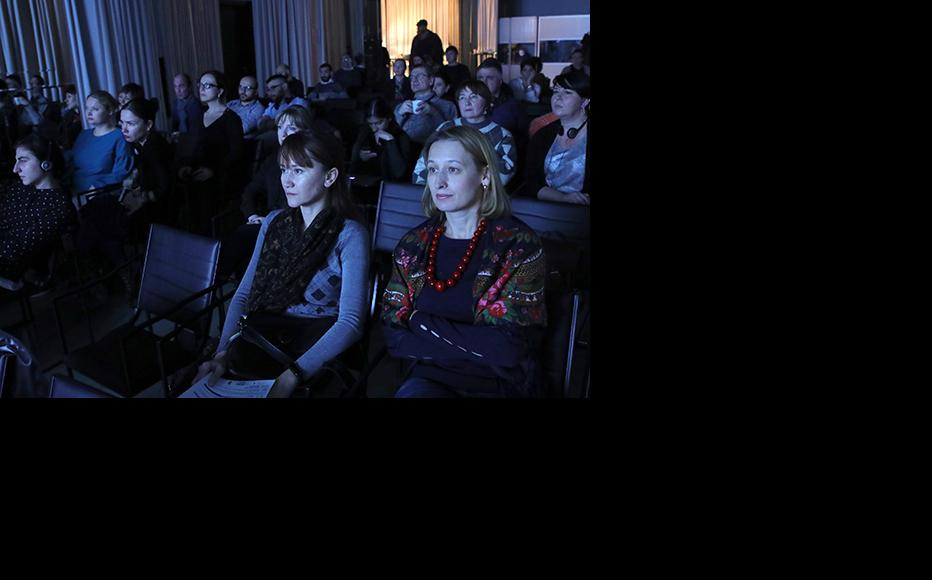 Audience during the screening of the film. Journalists, activists, students and the members of the Ukrainian diaspora attended the event. (Photo: IWPR)