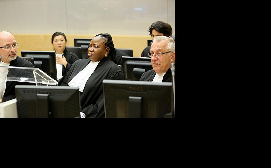 Prosecutors in the case against Ruto and Sang. Anton Steynberg (front left) said his team had not been able to verify witness' claims about the death of a police officer. (Photo: ICC-CPI/Flickr)