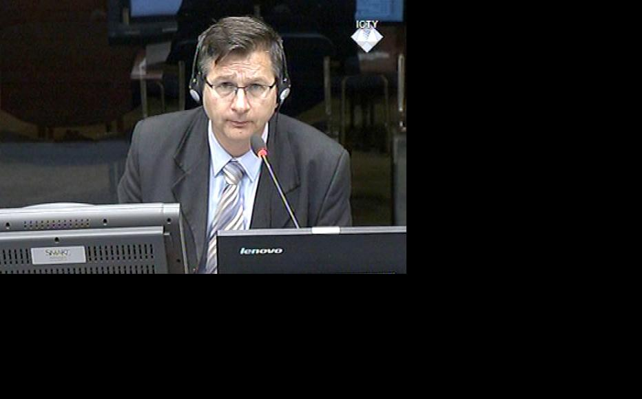 Historian Milos Kovic, defence witness at the Mladic trial. (Photo: ICTY)