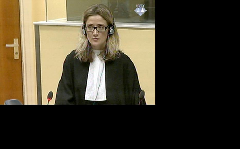 Melissa Pack presenting final prosecution arguments at the Karadzic trial. (Photo: ICTY)