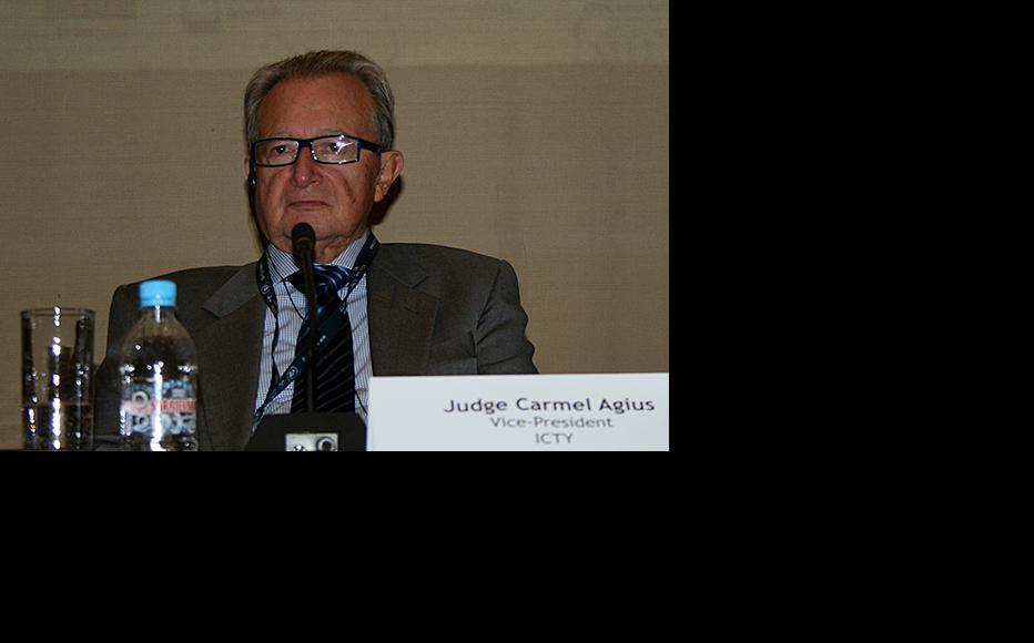 ICTY Judge Carmel Agius, adressing participants of the conference. (Photo: ICTY)