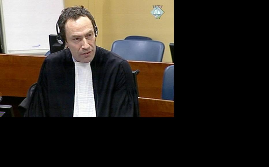 Chris Gosnell, Goran Hadzic's defence lawyer at the ICTY. (Photo: ICTY)