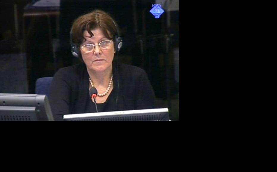 Polish demographer Ewa Tabeau in the ICTY courtroom. (Photo: ICTY)