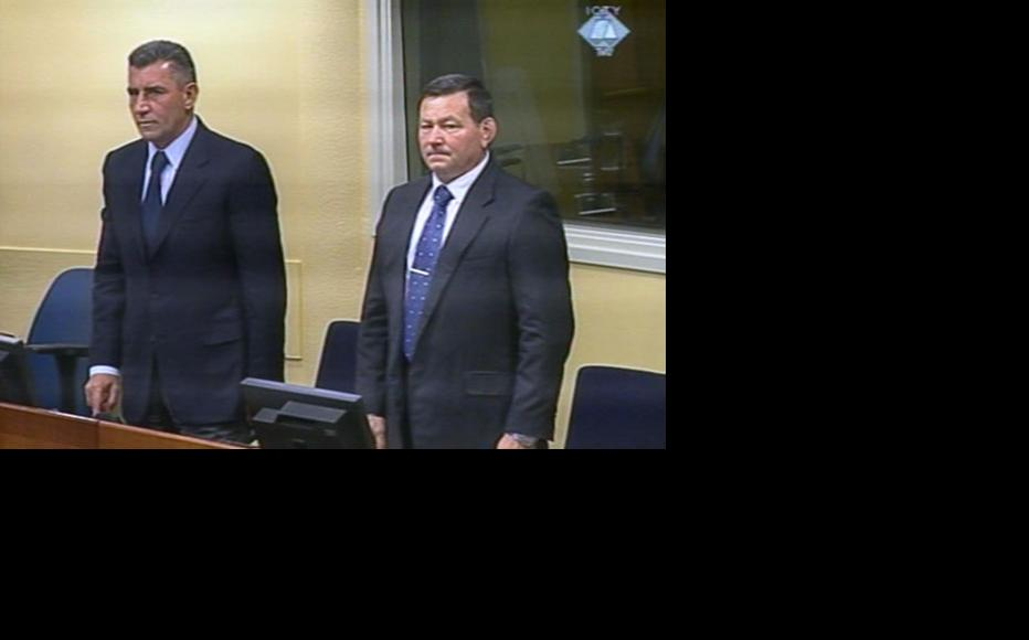 Ante Gotovina (left) and Mladen Markac in the ICTY courtroom. (Photo: ICTY)