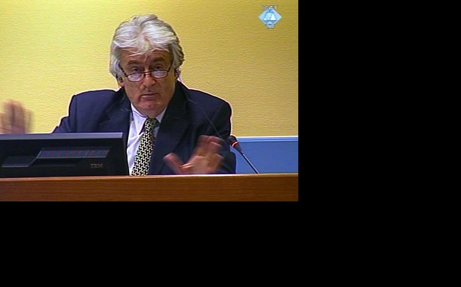 Radovan Karadzic in the ICTY courtroom. (Photo: ICTY)