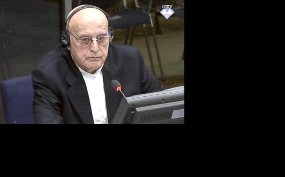 Ljubisa Beara testifing on behalf of wartime Bosnian Serb president Radovan Karadzic at the ICTY. (Photo: ICTY)