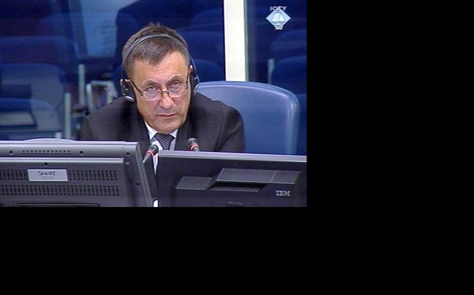 Milovan Bjelica, defence witness in the Karadzic trial. (Photo: ICTY)