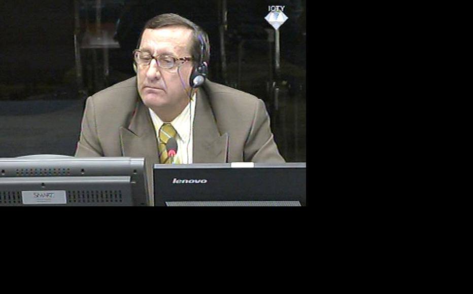 Mitar Rasevic, defence witness in the Karadzic trial at the ICTY. (Photo: ICTY)