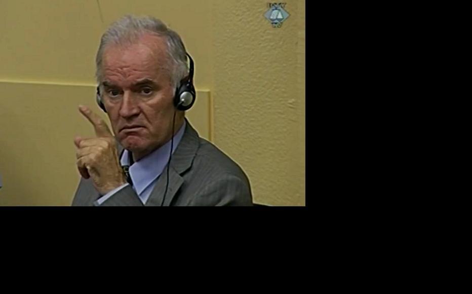 Ratko Mladic in court this week as his defence case got under way. (Source: ICTY)