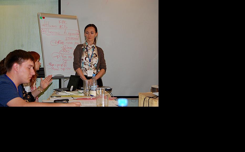 Irina Mednikova, head of the Kazakstan Youth Information Service. (Photo: Kazakstan Youth Information Service)