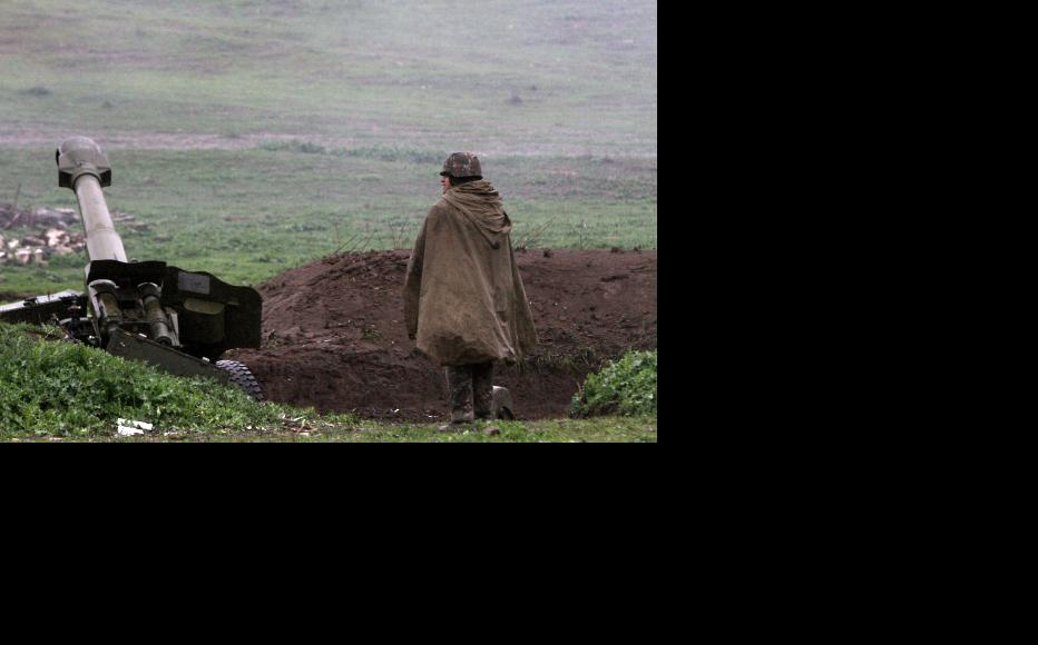 Nagorny Karabakh defence forces holding their military positions. (Photo: Photolure Agency)