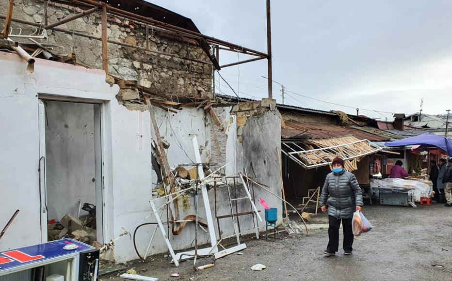 Destruction caused by the latest round of fighting in Nagorny-Karabakh. (Photo: Arshaluys Mghdesyan)