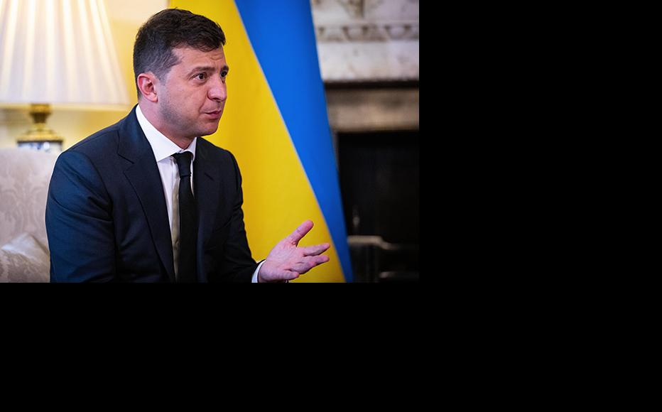 President of Ukraine, Volodymyr Zelensky. (Photo by Aaron Chown - WPA Pool/Getty Images)