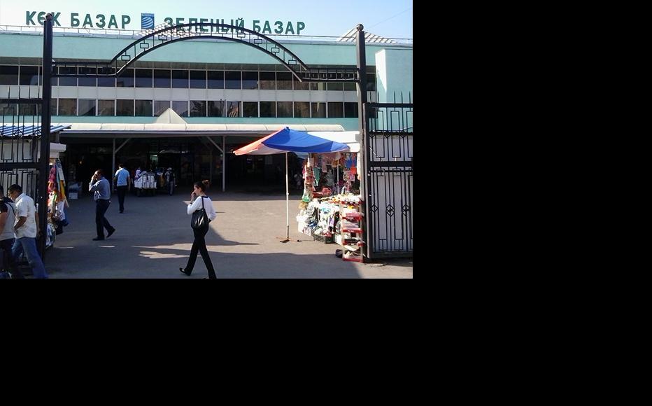 The entrance to Green Bazaar, the oldest retail market in Almaty. (Photo: Gaziza Baituova)