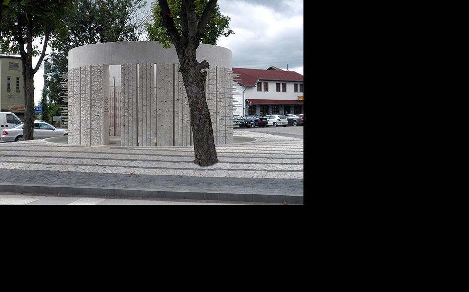 The monument to Bosniak victims in Kozarac is one of the only memorials for non-Serbs that has been permitted by officials in Republika Srpska. Each of the 1,226 candles represents one person who died. (Photo: Sanda Ullen)