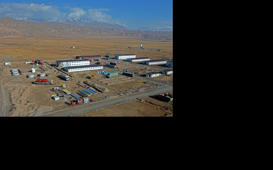 Construction has now been put on hold. (Photo: Press-service of the President of Kyrgyz Republic)