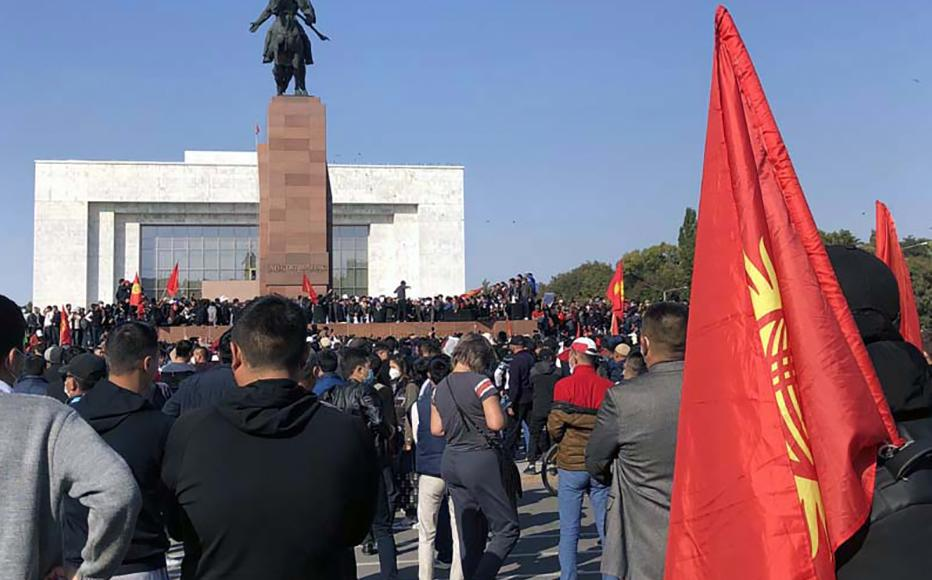 Ala-Too square, 6 October, 2020.