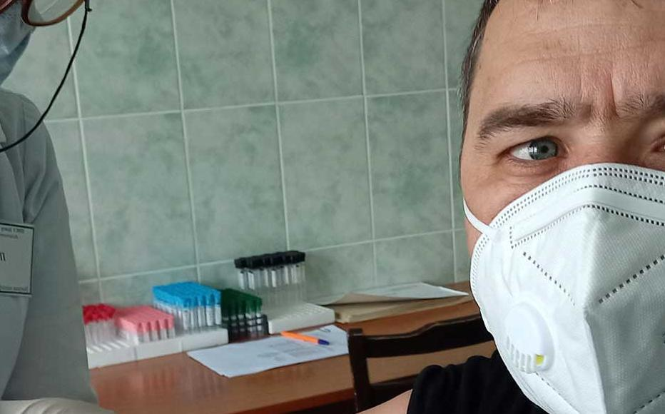 Roman Homenko was one of the first to receive his vaccine in Gagauzia and is a strong proponent of people getting vaccinated.