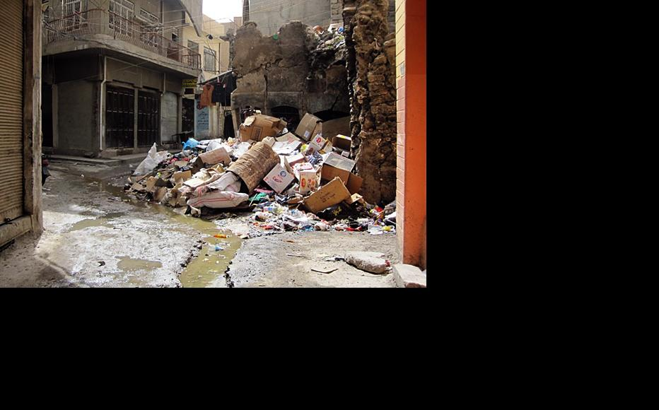 Rubbish piles up in a corner of Mosul, reflecting the many tasks that face local government, assuming its members can work together. (Photo: Ahmed Younis)