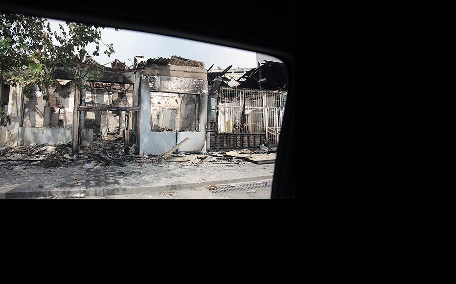 Many homes lie in ruins after targeted arson attacks (Photo: Inga Sikorskaya)