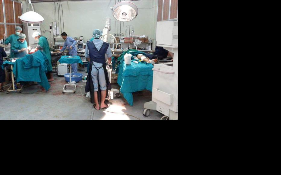 The operating room of the Farmix field hospital. (Photo: Yaman Assi)