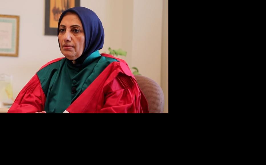 Rafiaa Al Abidi was the first female judge in Benghazi. (Still from video by raedatlibya.net)