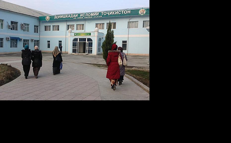 Islamic University in Dushanbe, the only educational institution where women can wear Muslim headscarfs during classes. (Photo: Humairo Bakhtiyor)