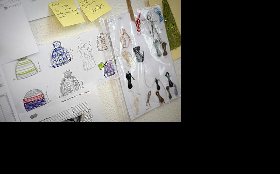 Sketches of designs and samples. (Photo: Sanja Vrzić)