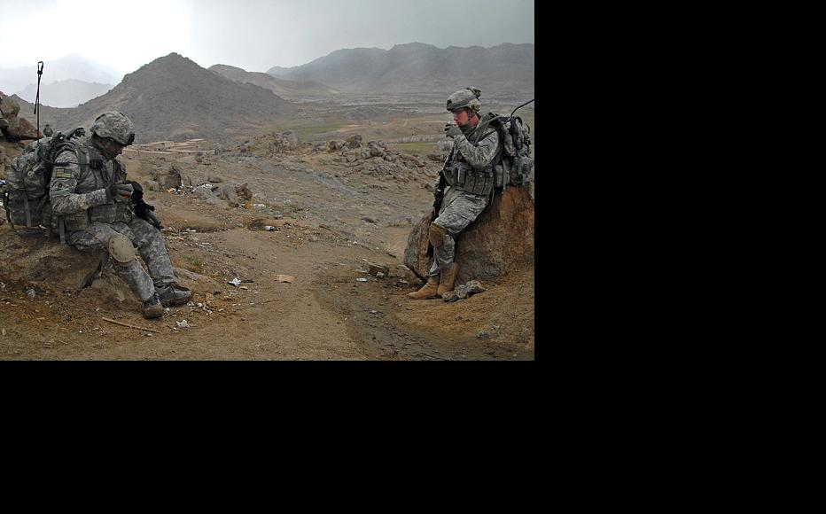 American soldiers at an outpost in the southern Zabul province. (Photo: Staff Sergeant Adam Mancini/US Army)
