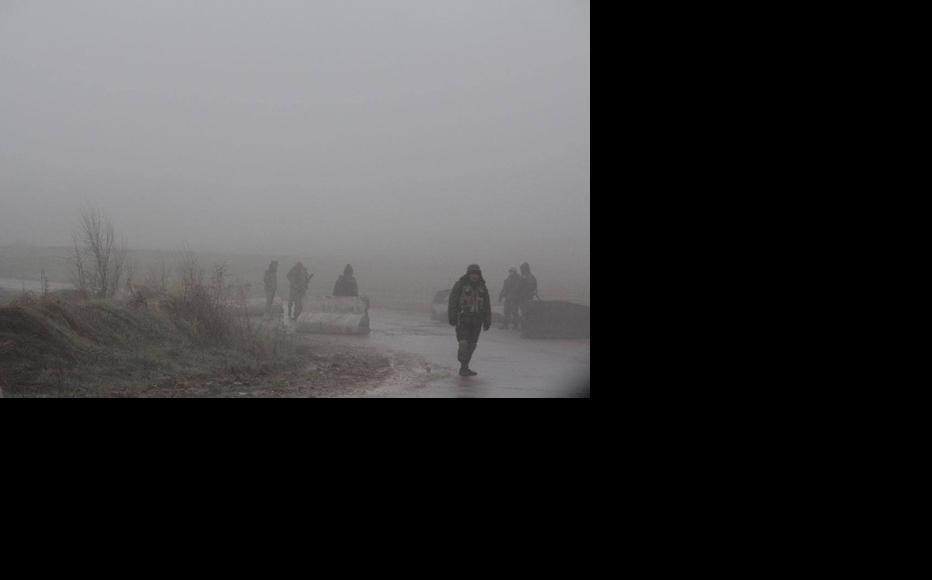 Kyrgyz military personnel guarding the border post at the road connecting villages Ala Buka and Kerben in Jalal-Abad region of Kyrgyzstan. (Photo: Hulkar Isamova)