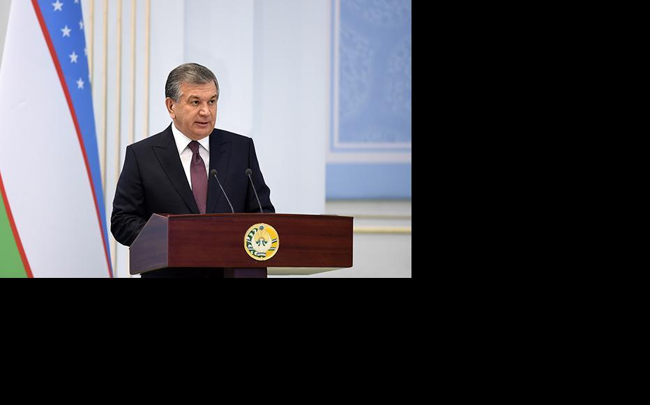 Uzbek president Shavkat Mirziyoyev. (Photo: Uzbek president's press service)