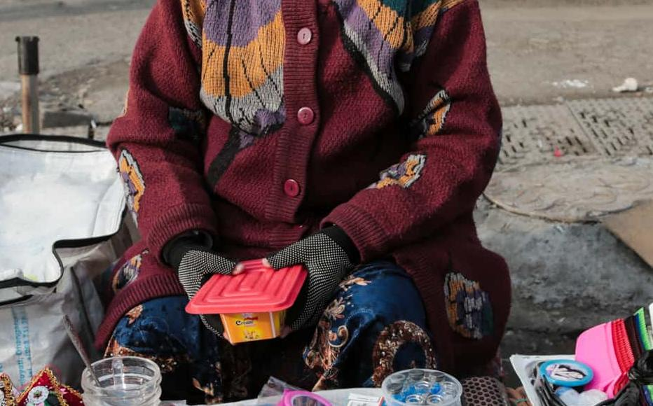 Zukhra Opa has been selling various charms for many years. Kuzmunchok are traditional handmade beads to protect the wearer from the evil eye. These are often bought for kids, for about 3,000-5,000 soms (three to five dollars) each. Zukhra Opa said she earned a decent wage.