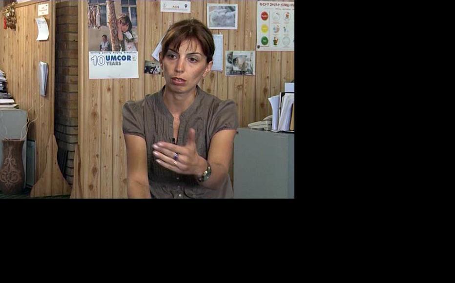 The head of UMCOR's anti-trafficking programme, Victoria Avakova. (Photo: Vahan Ishkhanyan)