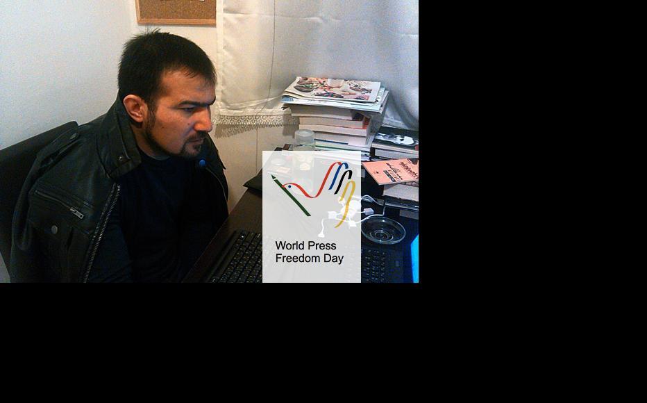 Azerbaijani reporter Seymur Hezi. (Photo courtesy of S. Hezi)