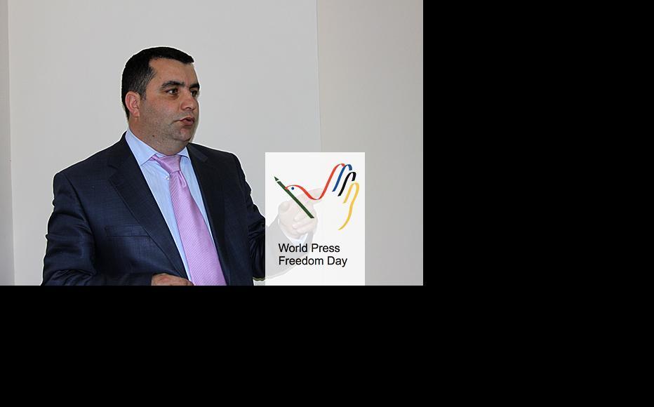 Yafez Ekremoghlu reports for RFE/RL in Azerbaijan. (Photo courtesy of Y. Ekremoghlu)