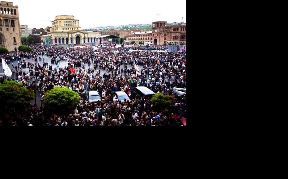 Republican Party rally in Yerevan, May 4. (Photo: Inna Mkhitaryan)