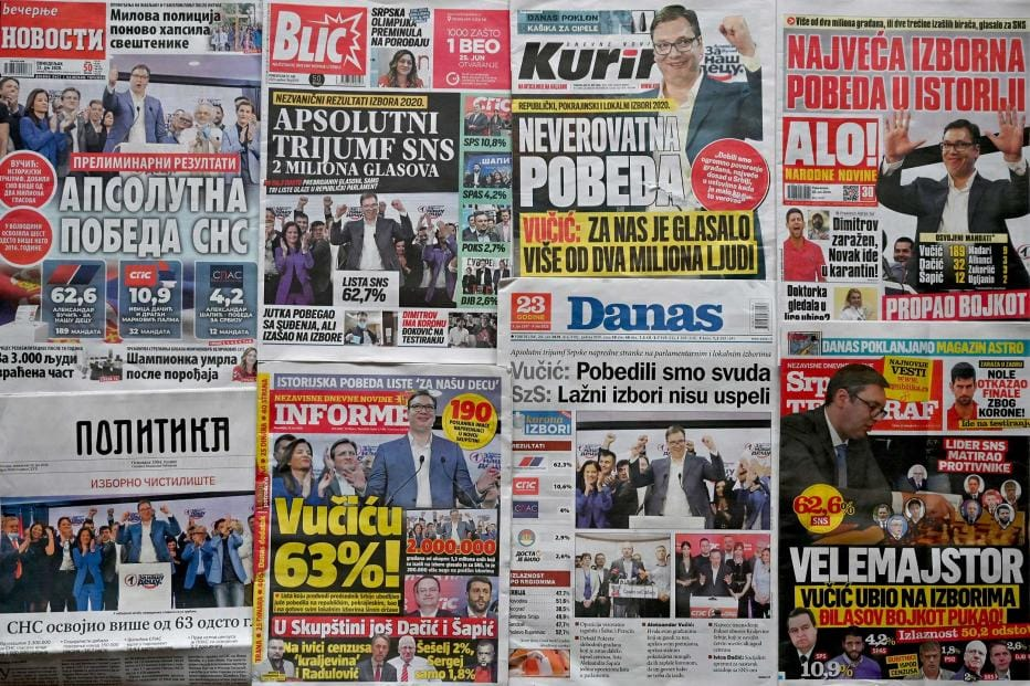 While most media in Serbia as well as Bosnia and Herzegovina are privately owned, the ruling parties have enormous influence over editorial policies.