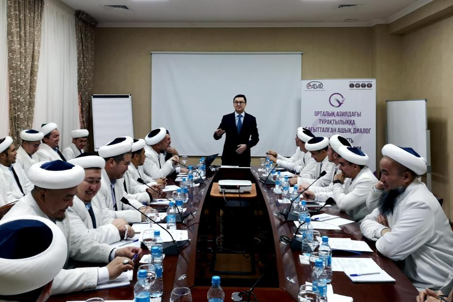 Training session in social media for imams in Kyzylorda, city in south-central Kazakstan.