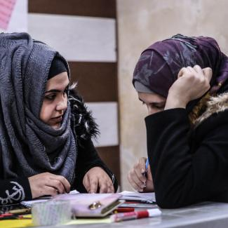 IWPR-supported women's vocational centre in Syria.